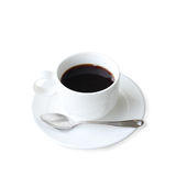 Cup of coffee over white Stock Photo