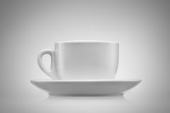 Cup of coffee. Coffee cup over white background Stock Photos