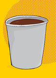 Cup of Coffee Over Yellow Royalty Free Stock Photos