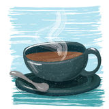 A cup of coffee. Painting style a cup of coffee royalty free illustration