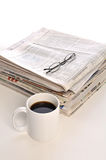 Cup of Coffee and paper Royalty Free Stock Images