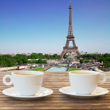 Cup of coffee in Paris Stock Photo