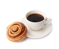 Cup of coffee and pastry composition royalty free stock images