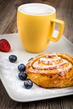 Cup of coffee and pastry Royalty Free Stock Images