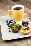 Cup of coffee and pastry Royalty Free Stock Image