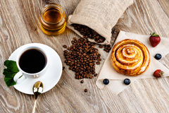 Cup of coffee and pastry Royalty Free Stock Photo