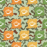 Cup of coffee Pattern Stock Photos