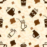 Cup of coffee Pattern Royalty Free Stock Photography