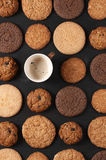 Various cookies and coffee Royalty Free Stock Image
