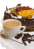The cup of coffee and pie Stock Photo