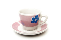 Cup of coffee in pink Stock Photo