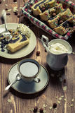 Cup of coffee and poppy seed cake Royalty Free Stock Photography