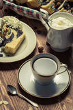 Cup of coffee and poppy seed cake Royalty Free Stock Photo