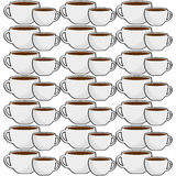 cup coffee porcelain seamless pattern Royalty Free Stock Image