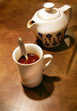 Cup and Coffee Pot Stock Photos