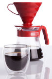 Cup of coffee and pour-over Stock Photography