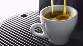 Cup of coffee poured stock video