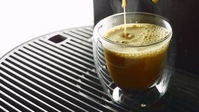 Cup of coffee poured stock video footage