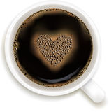 Cup Of Coffee With Prediction of Love. Vector  Royalty Free Stock Photo
