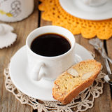 A Cup of Coffee with Pumpkin Biscotti Stock Image