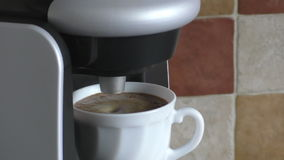 Cup of coffee is ready stock video footage