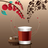 A cup of coffee recipe conceptual. royalty free illustration