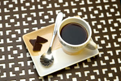 Coffee and dark chocolate. Stock Photography