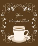 Cup of coffee. Retro frame Royalty Free Stock Images