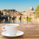 Cup of coffee in Rome Stock Images