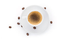 Cup coffee on saucer Stock Photography
