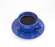 A cup of coffee on a saucer Royalty Free Stock Image
