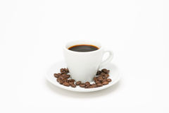 Cup of coffee with seed Stock Photography
