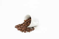 Cup of coffee with seed Royalty Free Stock Image