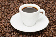Cup of coffee with seed Royalty Free Stock Photos