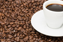 Cup of coffee with seed Royalty Free Stock Photo