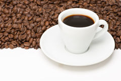Cup of coffee with seed Royalty Free Stock Images