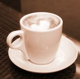 Cup of coffee - sepia Royalty Free Stock Images