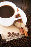 A cup of coffee served nicely. Royalty Free Stock Photography