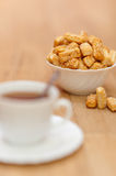 Cup coffee, sesame cookies Stock Photo