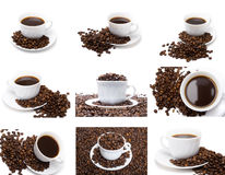 The cup of coffee set Royalty Free Stock Photo