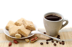 Cup of coffee and sherbets Stock Photo