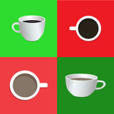 Cup of coffee: side view, top view Stock Photography