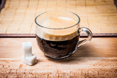 Cup of coffee side view Stock Photo