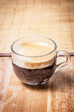 Cup of coffee side view Royalty Free Stock Image