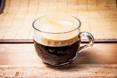 Cup of coffee side view Royalty Free Stock Photos