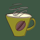 Cup of coffee sketch Royalty Free Stock Photography