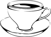 Cup of coffee. Sketch. Vector Stock Photo