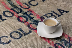 A cup of coffee. Small cup of black coffee Stock Image