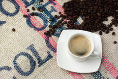 A cup of coffee. Small cup of black coffee Stock Images