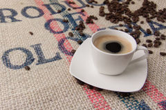 A cup of coffee. Small cup of black coffee Royalty Free Stock Images